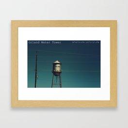 Orland Water Tower Framed Art Print