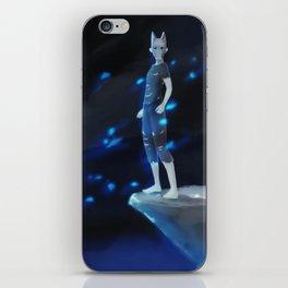 Wild boy with Wolf Pagan Mask iPhone Skin
