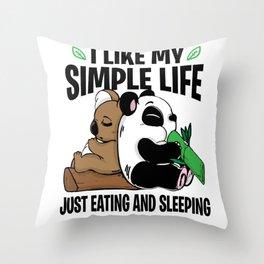 Panda Bear Koala Lazy Sleeping Eating Couch gift Throw Pillow