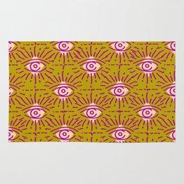 Dainty All Seeing Eye Pattern in Blush Rug