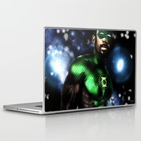 john green Laptop & iPad Skins featuring John Stewart : The Green Lantern by André Joseph Martin