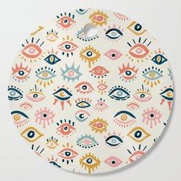 Mystic Eyes – Primary Palette Cutting Board