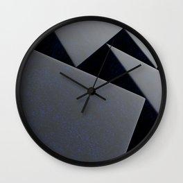 Blue stone prisms pattern Wall Clock