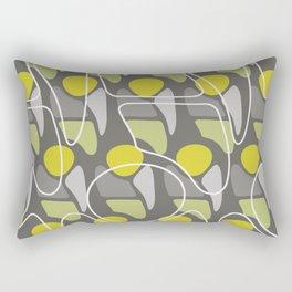 Retro Pattern Abstract Man Chartreuse Gray Rectangular Pillow