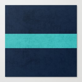 classic - navy and aqua Canvas Print