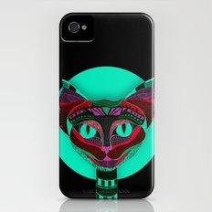 Black CAT- Black iPhone (4, 4s) Slim Case