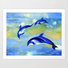 Dolphin Fantasy Art Print