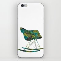 eames iPhone & iPod Skins featuring Eames Rocker by Melissa Nocero