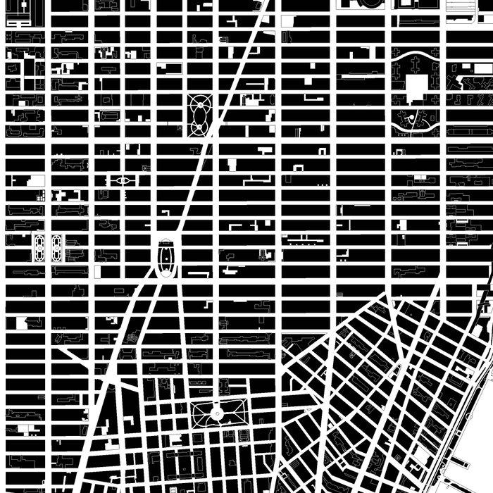 New York city map black and white Leggings
