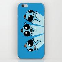 powerpuff girls iPhone & iPod Skins featuring Powerpuff Meeseeks by BovaArt