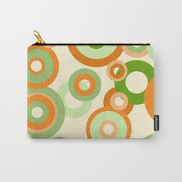 vintage rings orange green Carry-All Pouch