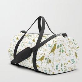 Chinoiserie White Green Paint #homedecor Duffle Bag
