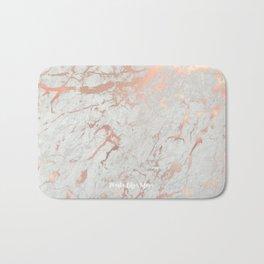 Rose gold marble Bath Mat