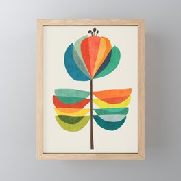 Whimsical Bloom Framed Mini Art Print