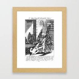 John the Baptist Beheaded Framed Art Print