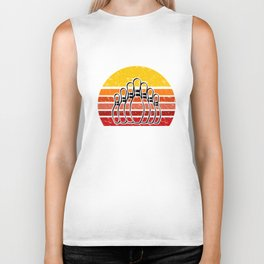 Retro Bowling design Gift for Bowlers Biker Tank