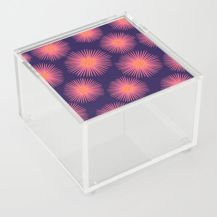 My Flowers Glow (Blue) Acrylic Box
