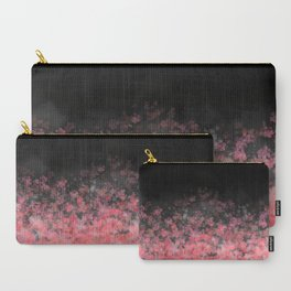 Black Floral Scatter Carry-All Pouch