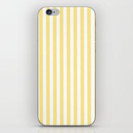 Modern geometrical baby yellow white stripes pattern iPhone Skin
