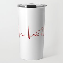German Shepherd Heartbeat Travel Mug
