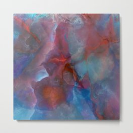 Colorful watercolor abstraction II Metal Print
