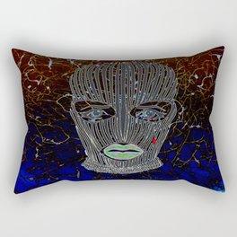 Masked Woman Rectangular Pillow