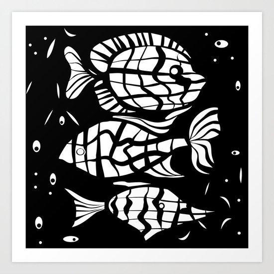 Fish . Zodiac sign Art Print