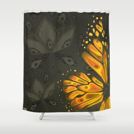 Incomplete - Monarch Butterfly Shower Curtain