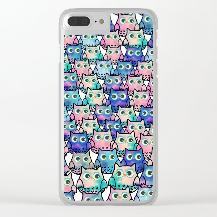 owl-49 Clear iPhone Case