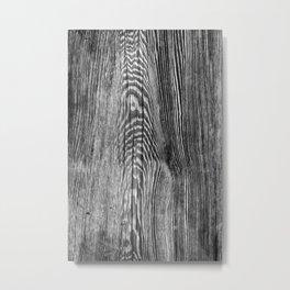Black wood Metal Print