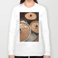 chocolate Long Sleeve T-shirts featuring Chocolate by Hector Wong