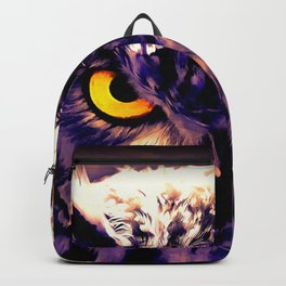 owl look digital painting reacls Backpack