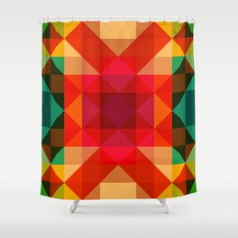 Abstract Bright Flower Pandi Shower Curtain