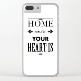 Your Heart is - Typography Clear iPhone Case