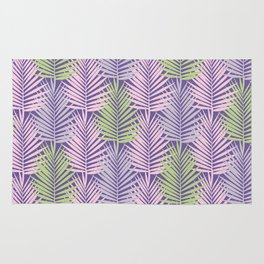 Ultra violet tropical palm leaves seamless pattern. Rug