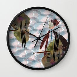Cellist Wall Clock