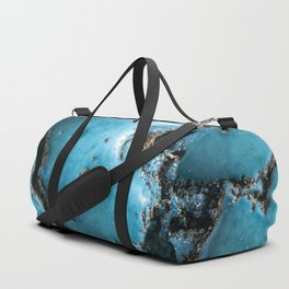 Turquoise stone close up Duffle Bag