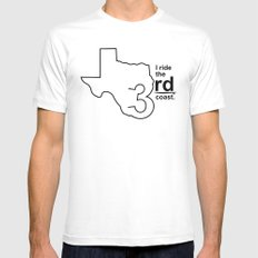 TX 3rd Coast White MEDIUM Mens Fitted Tee
