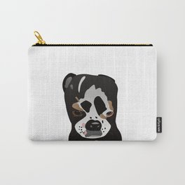 Cute Boston Terrier Pup Graphic Style Carry-All Pouch