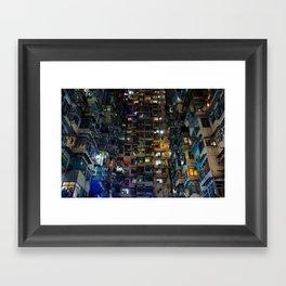 Hong Kong Walled City Framed Art Print