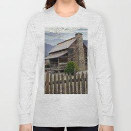 Appalachian Mountain Cabin Long Sleeve T-shirt
