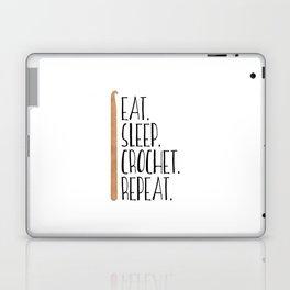 Eat Sleep Crochet Repeat Laptop & iPad Skin