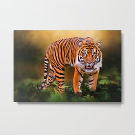 Father Tiger - Mother Earth Metal Print