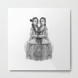 Sisters Twins Metal Print