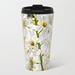 White brush of cherry. Travel Mug