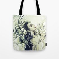 stag Tote Bags featuring Stag by Anna Dittmann