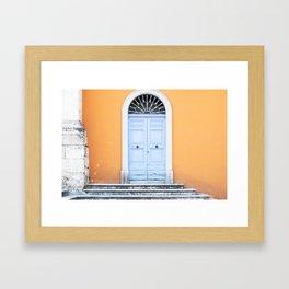 172. The Blue Door, Rome Framed Art Print