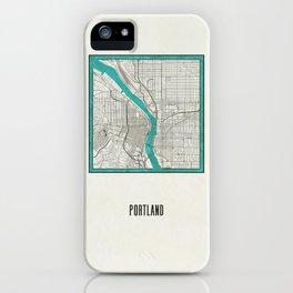 Portland Metallic Inlay Map iPhone Case