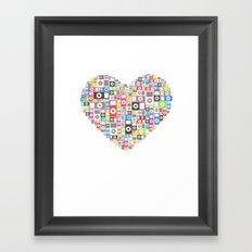 I love Ipod Framed Art Print