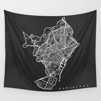barcelona Wall Tapestries featuring BARCELONA by Nicksman